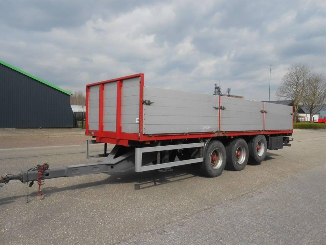 platte aanhanger vrachtwagen GS Meppel AGROLINER mid-triple