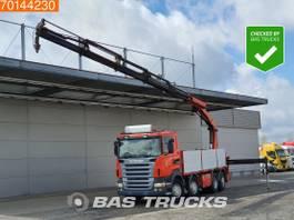 platform vrachtwagen Scania R420 8X2 Lift+Lenkachse Euro 4 Palfinger PK23002-SH-D 2008