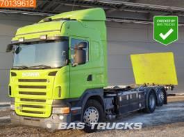 wissellaadbaksysteem vrachtwagen Scania R420 6X2 Manual Ladebordwand Liftachse Euro 4 2006