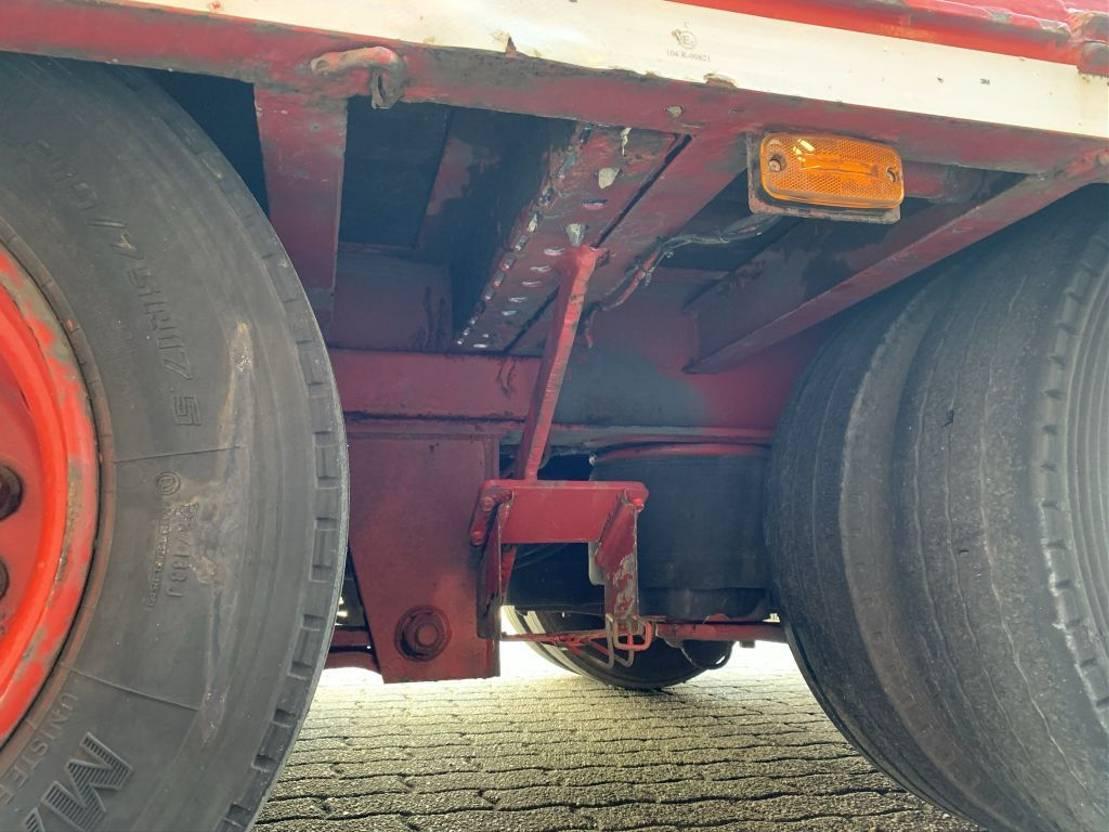 platte aanhanger vrachtwagen KWB 3AS 680+152CM, 75H, Liftas Rongen Twistlocks hardhouten vloer 1989