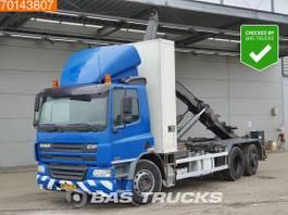 containersysteem vrachtwagen DAF CF 75 6X2 NL-Truck Manual Lenkachse Seitenlader Euro 3 2003