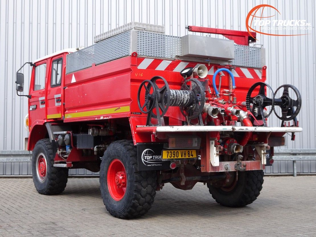 brandweerwagen vrachtwagen Renault M180 Midliner 4x4 -Feuerwehr, Fire brigade -4.000 ltr watertank - Expedi... 1995