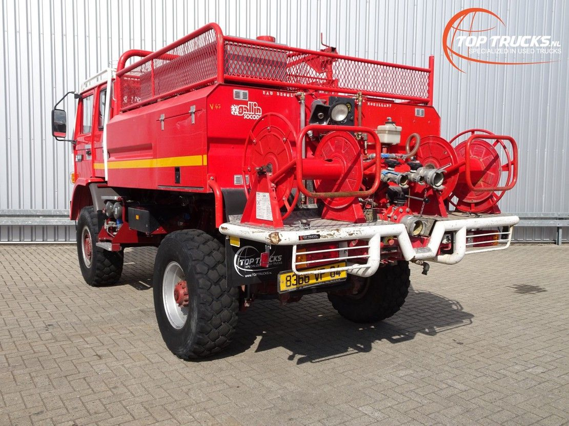 brandweerwagen vrachtwagen Renault M180 Midliner 4x4 -Feuerwehr, Fire brigade -4.000 ltr watertank - Expedi... 1996
