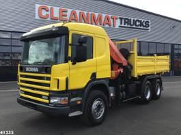 kraanwagen Scania P114 6x4 Palfinger 27 ton/meter laadkraan 2001