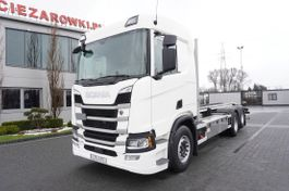chassis cabine vrachtwagen Scania R500 , E6 , 6x2 , chassis 7,5m , retarder , sleeb cab , camera , 2017