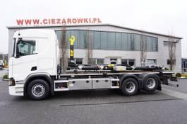 containersysteem vrachtwagen Scania R500 , E6 , 6x2 , NEW HOOK LIFT HYVA 20T , retarder , lift axle 2017