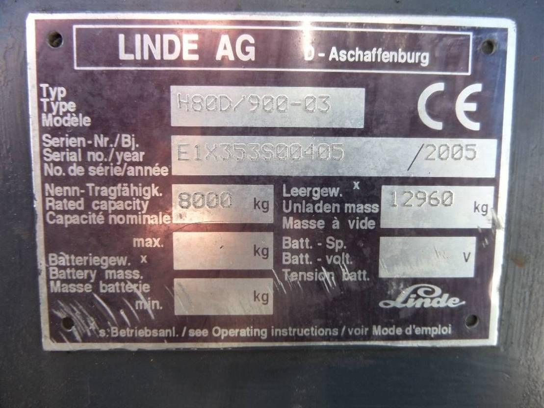 vorkheftruck Linde H80D900-03 2005