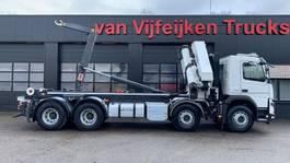 containersysteem vrachtwagen Volvo FMX 500 8X4 - HMF 5020K4 KRAN/CRANE/GRUA AJK 20 TONS CONTAINER 2019