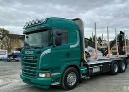 houttransporter vrachtwagen Scania R480 Euro 5 Kesla m. Menke-Janzen Exte 2014