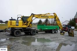 wielgraafmachine Komatsu PW160-8 Wheeled excavator with good tires, rotor t 2013