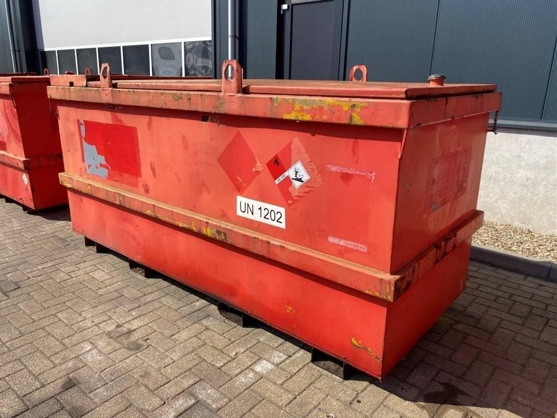 IBC-intermediate bulk container Kiwa IBC Jacobi 3000 liter Dieseltank 1998