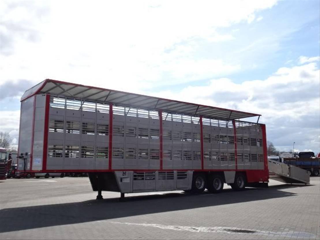 vee oplegger CUPPERS LVO 12-27 ASL 3 Stock Livestock Trailer 2005
