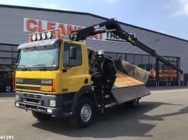 kipper vrachtwagen > 7.5 t DAF CF 250 FAV 75 4x4 Hiab 11 ton/meter laadkraan 2003