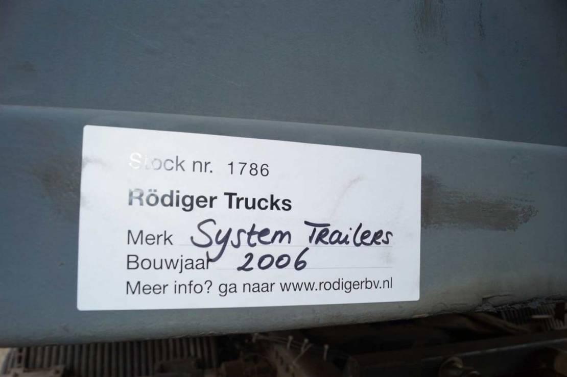 platte oplegger System Trailer 3-assige oplegger 2006