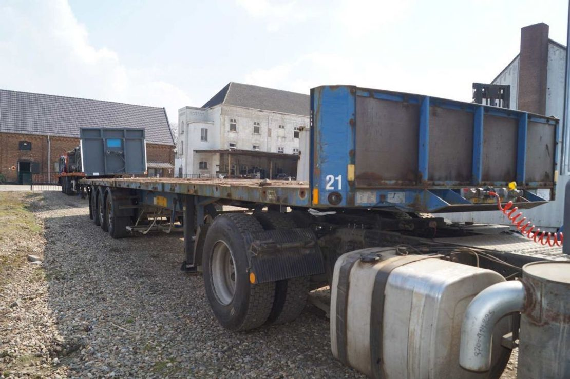 container chassis oplegger Van Hool 3-assige oplegger 1999