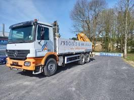 open laadbak vrachtwagen Mercedes-Benz Actros 3341 - FULL STEEL -crane HMF2820 with rotator