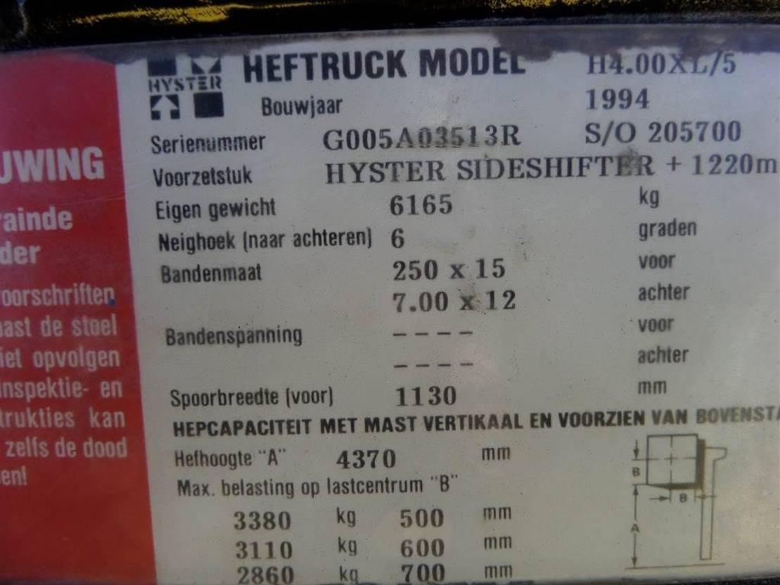 vorkheftruck Hyster H 4.00XL/5 1994
