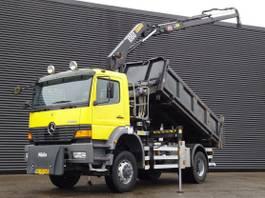 kipper vrachtwagen > 7.5 t Mercedes-Benz Atego 1823 / 4X4 / CRANE + 3 SIDE TIPPER / 116 DKM 2001
