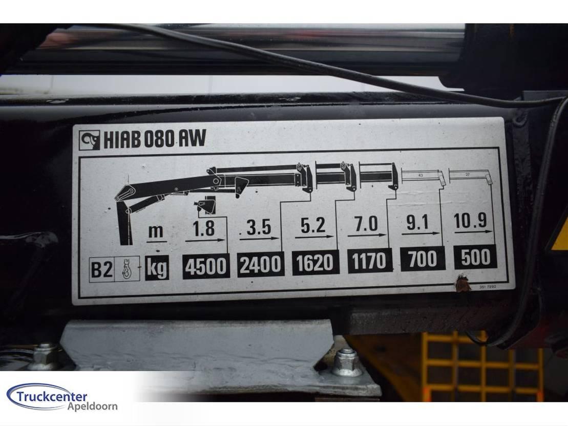 brandweerwagen vrachtwagen Scania P93 4x4, Steel springs, Hiab 085, 2700L Water, Truckcenter Apeldoorn 1989