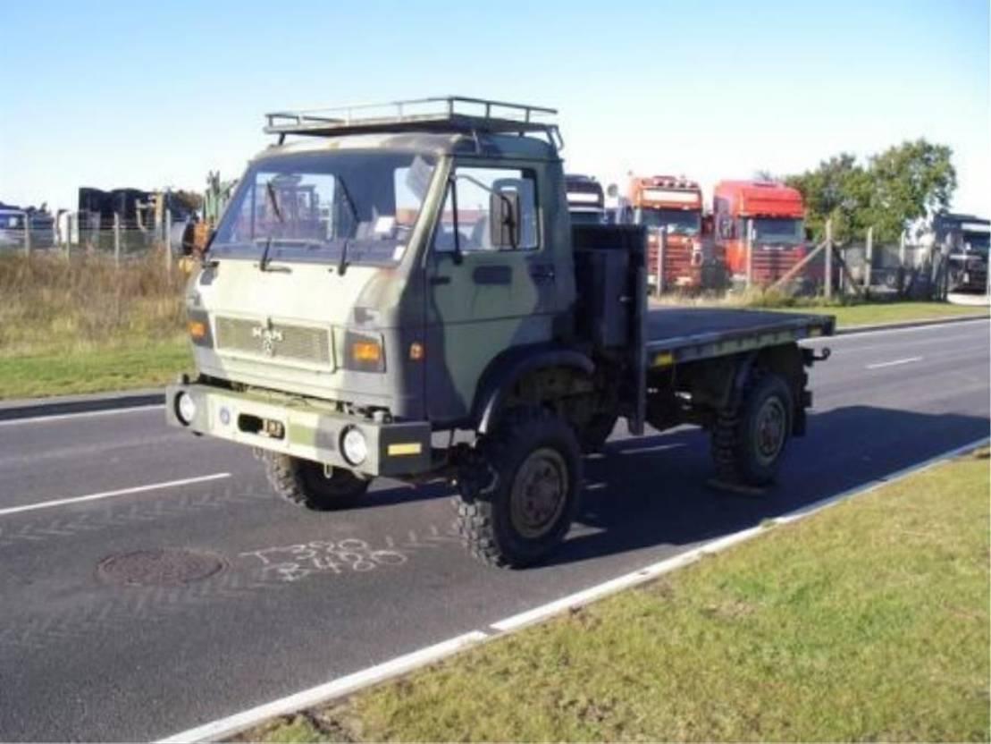 leger vrachtwagen MAN 8-150 FAE 4X4 (EX-ARMY)SPARE PARTS. 1991