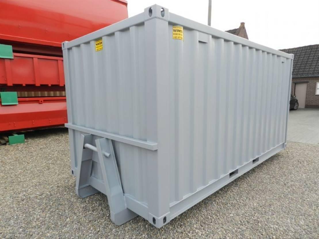 dry standaard zeecontainer Diversen 15ft op slede/Opslagcontainers
