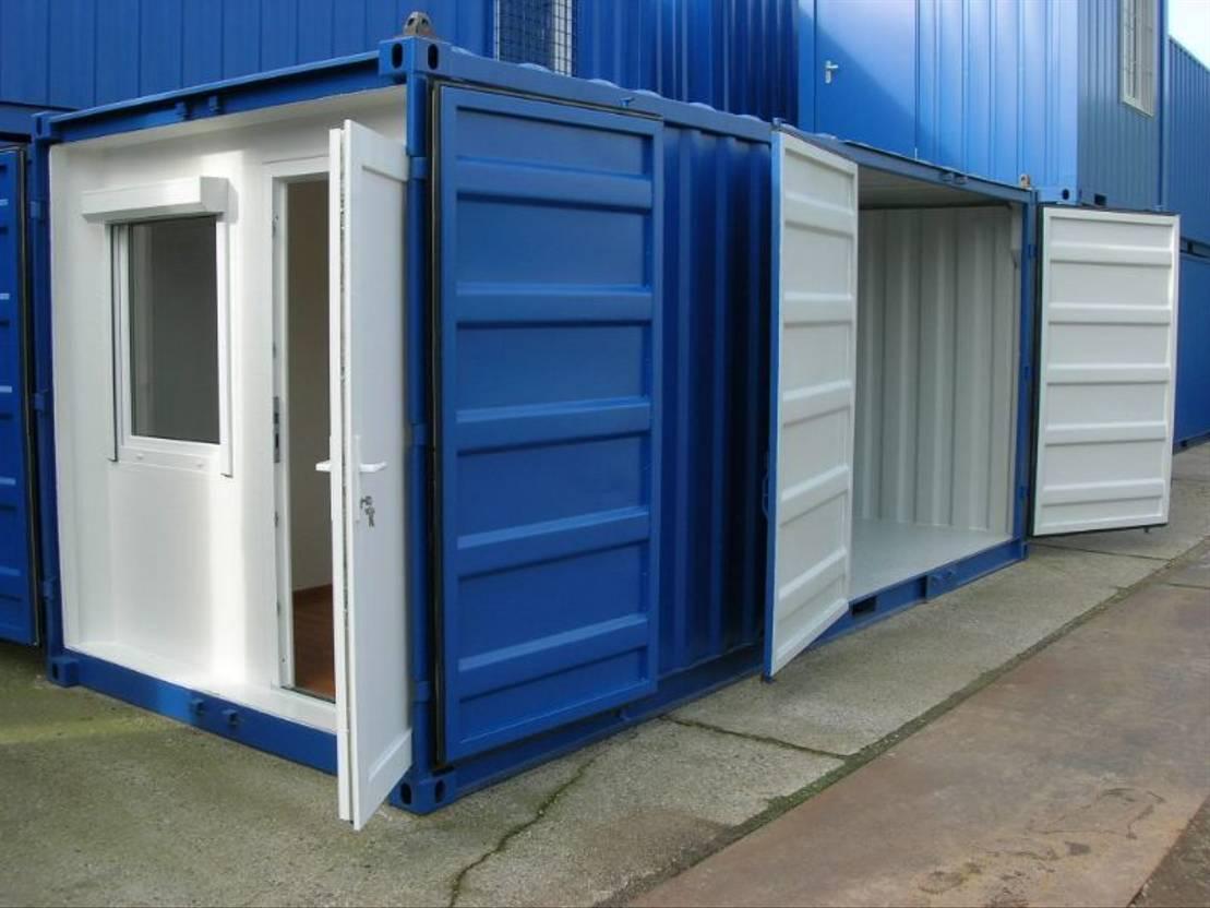 dry standaard zeecontainer Diversen Combi 20ft - Doorsteekruimte