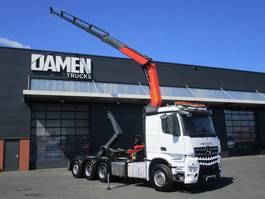 containersysteem vrachtwagen Mercedes-Benz AROCS 3742 8x4 Tridem Euro 6 2015