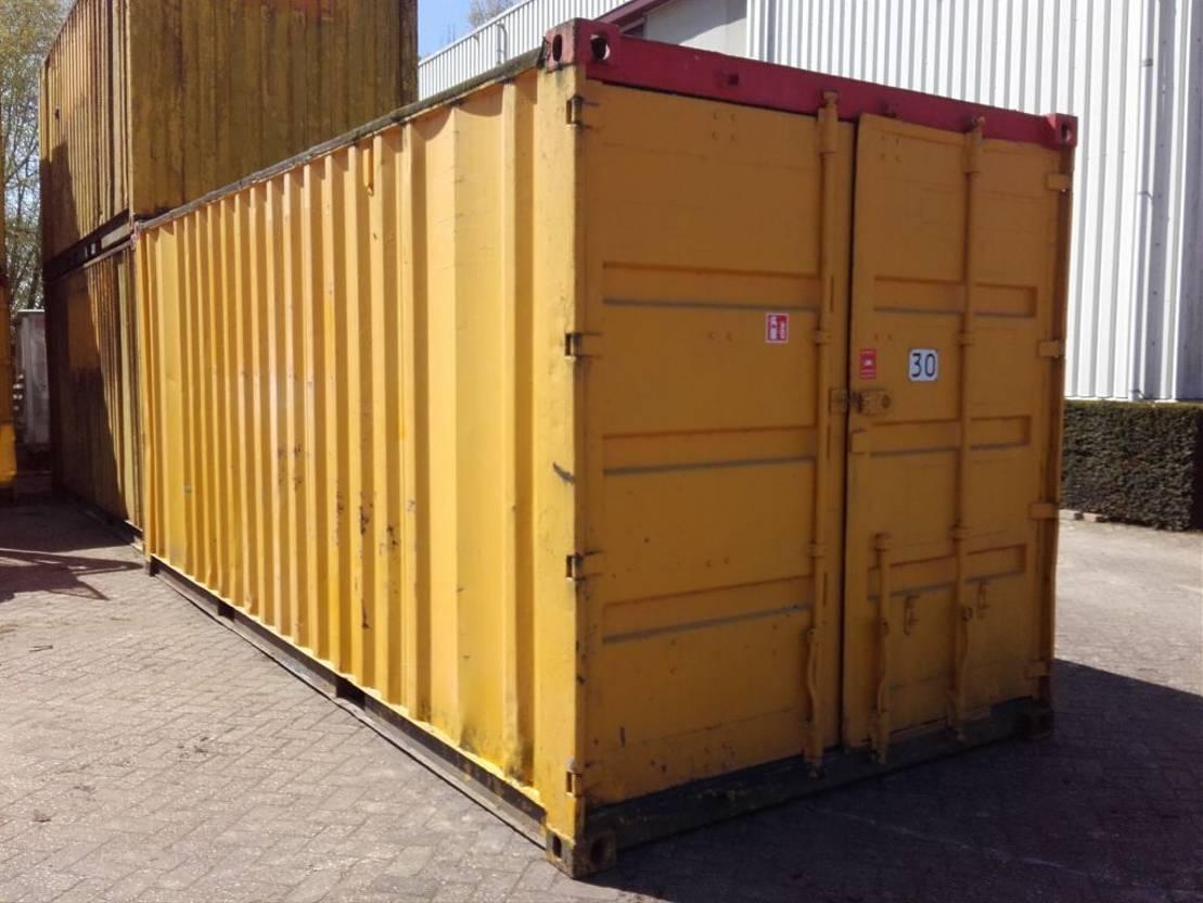 dry standaard zeecontainer Diversen 20ft met stelling + elektra