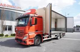 koelwagen vrachtwagen Mercedes-Benz Actros 2551 , E5 , 6x2 , 18 EPAL , height 3M , full side opening 2014