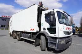 vuilniswagen vrachtwagen Renault Premium 320 320DXI , E5 , 6x2 , SEMAT 21m3 , steer axle , 3-seats ca 2010