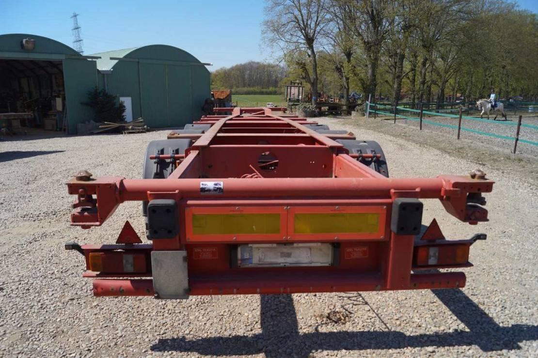container chassis oplegger Schmitz Cargobull 3-assige oplegger 1999