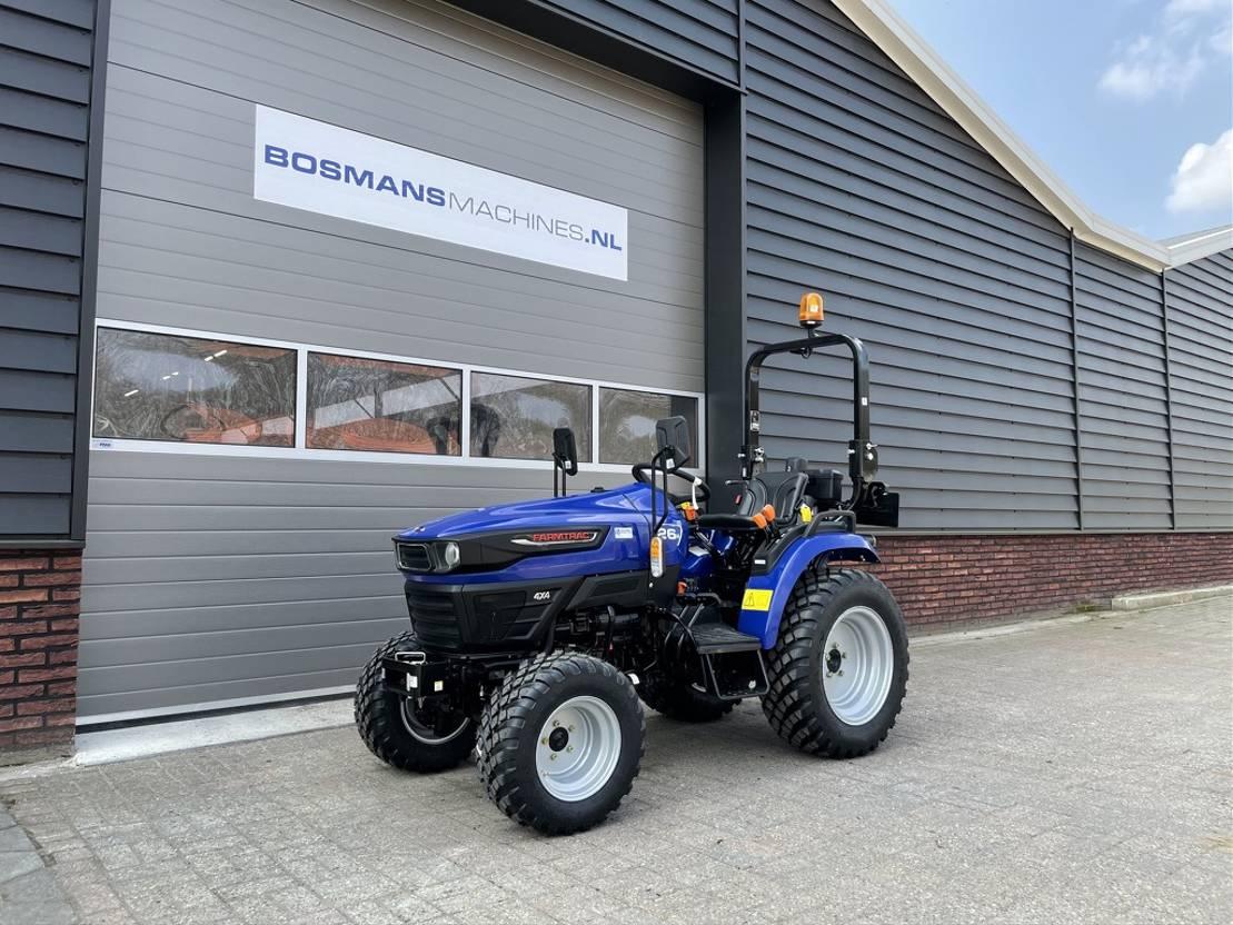 standaard tractor landbouw Diversen Farmtrac FT26 HST 24.5 PK minitractor NIEUW garden pro banden 2021