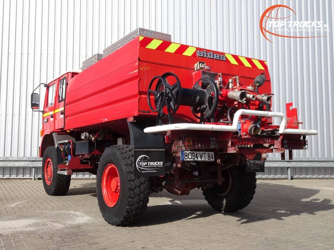 brandweerwagen vrachtwagen Renault Midliner 180 M180 4x4 -Feuerwehr, Fire brigade -4.000 ltr watertank - Expeditie, Camper 1997