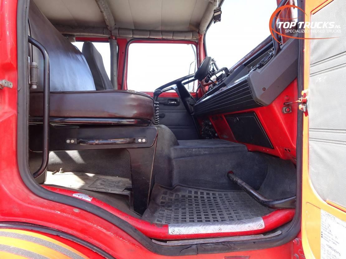 brandweerwagen vrachtwagen Renault M180 4x4 -Feuerwehr, Fire brigade -3.500 ltr watertank - Expeditie, Camper 1994