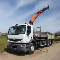 platform vrachtwagen Renault Premium 370 PREMIUM LANDER 370 DXI 6X2 RETARDER PALFINGER PK15500 CRANE REMOTE CONTROL