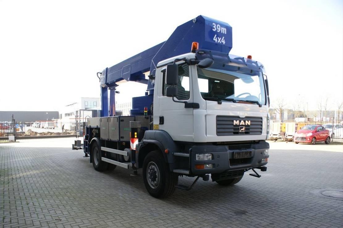 autohoogwerker vrachtwagen MAN TGM 18 4x4 Wumag Palfinger TKA 38.5 KS ReCodrive! 2009