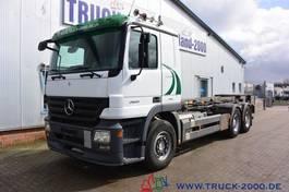 containersysteem vrachtwagen Mercedes-Benz Actros 2641 6x4 Seilabroller 20 t 3 Pedale Klima 2008