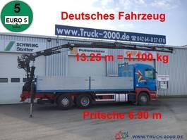 platform vrachtwagen Scania R400 Tirre Euro 191L 9m=1,7t. 7m Ladefl. 1.Hand 2010