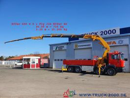 kraanwagen MAN 8x4 Effer 600 4S + JIB 60T/M bis 30m Höhe 2002