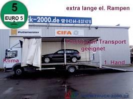 oprijwagen bedrijfswagen Mercedes-Benz Atego 822 Geschlossener Transport + el. Rampen 2009