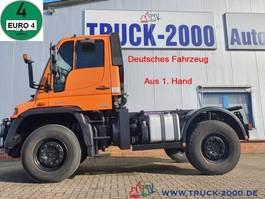 chassis cabine vrachtwagen Unimog U 400 4x4 Zapfwelle Wechsellenkung Mähsitz Klima 2008