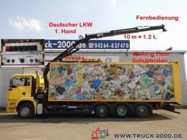 vuilniswagen vrachtwagen MAN 32.390 Schubboden 57m³Wertstoff Müll Presse 2005