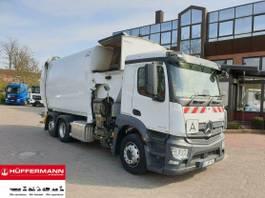 vuilniswagen vrachtwagen Mercedes-Benz Antos 2536 L 6x2 NTM Seitenlader OM-SBH 27m³ 2020