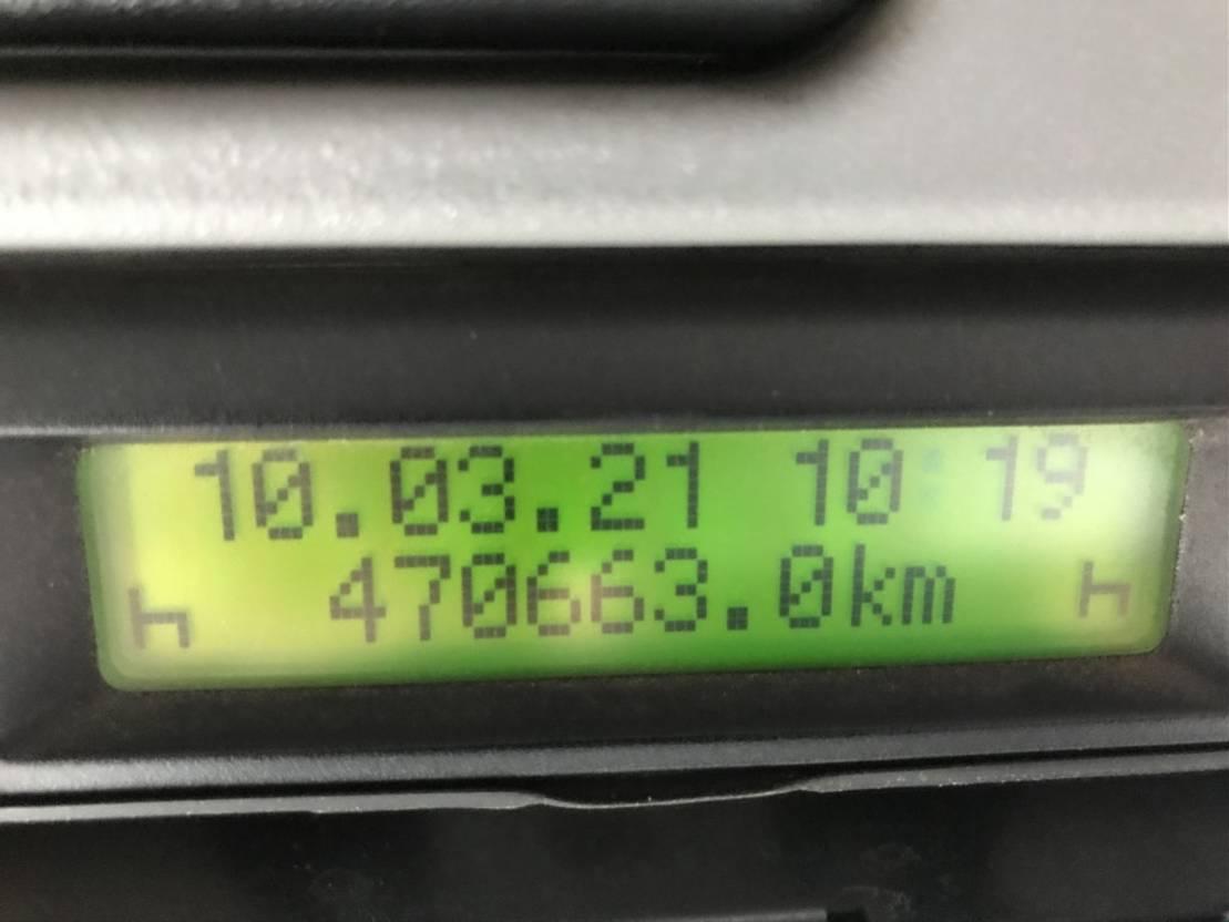 open top zeecontainer Mercedes-Benz 10.2021 Actros 2546 L 6x2 Meiller AK 16 Lenkachse, analoger Tachograf 2005