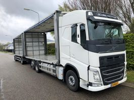 veewagen vrachtwagen Volvo FH 500 6*2 Euro 6 , + Cuppers aanhanger , chicken transport , Combi 2014