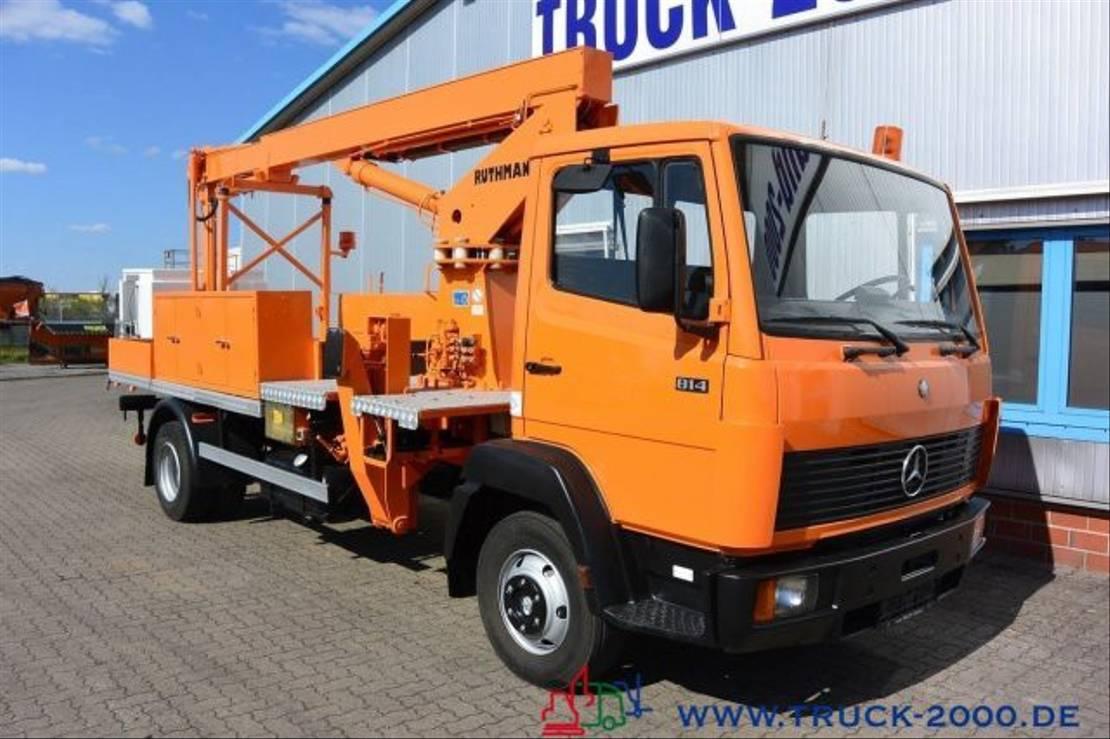 autohoogwerker vrachtwagen Mercedes-Benz 814 Ruthmann 16m H-Zulassung Neuwertiger Zustand 1987