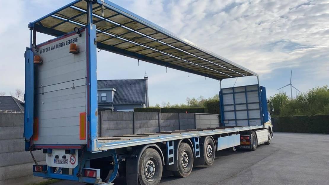 vee oplegger System Trailer Kippentransport