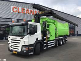 vuilniswagen vrachtwagen Scania P320 Palfinger 23 ton/meter laadkraan 2011