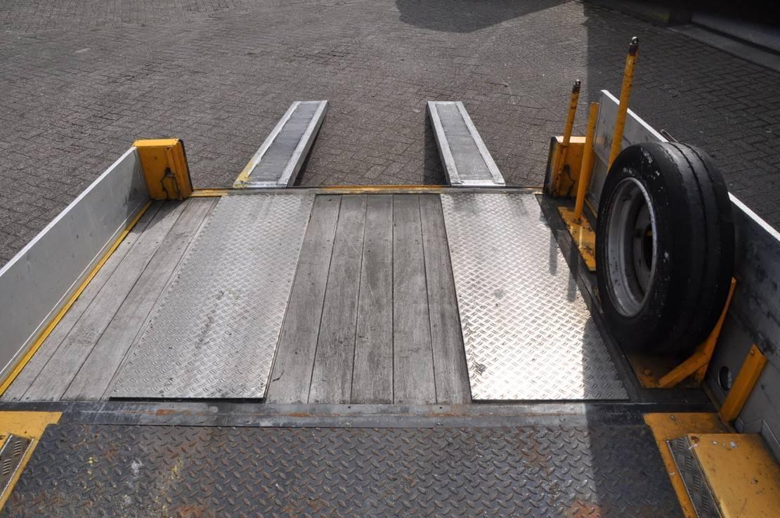 platte aanhanger vrachtwagen Titan .2005. 7-TON OPRIJ AANHANGER 2005