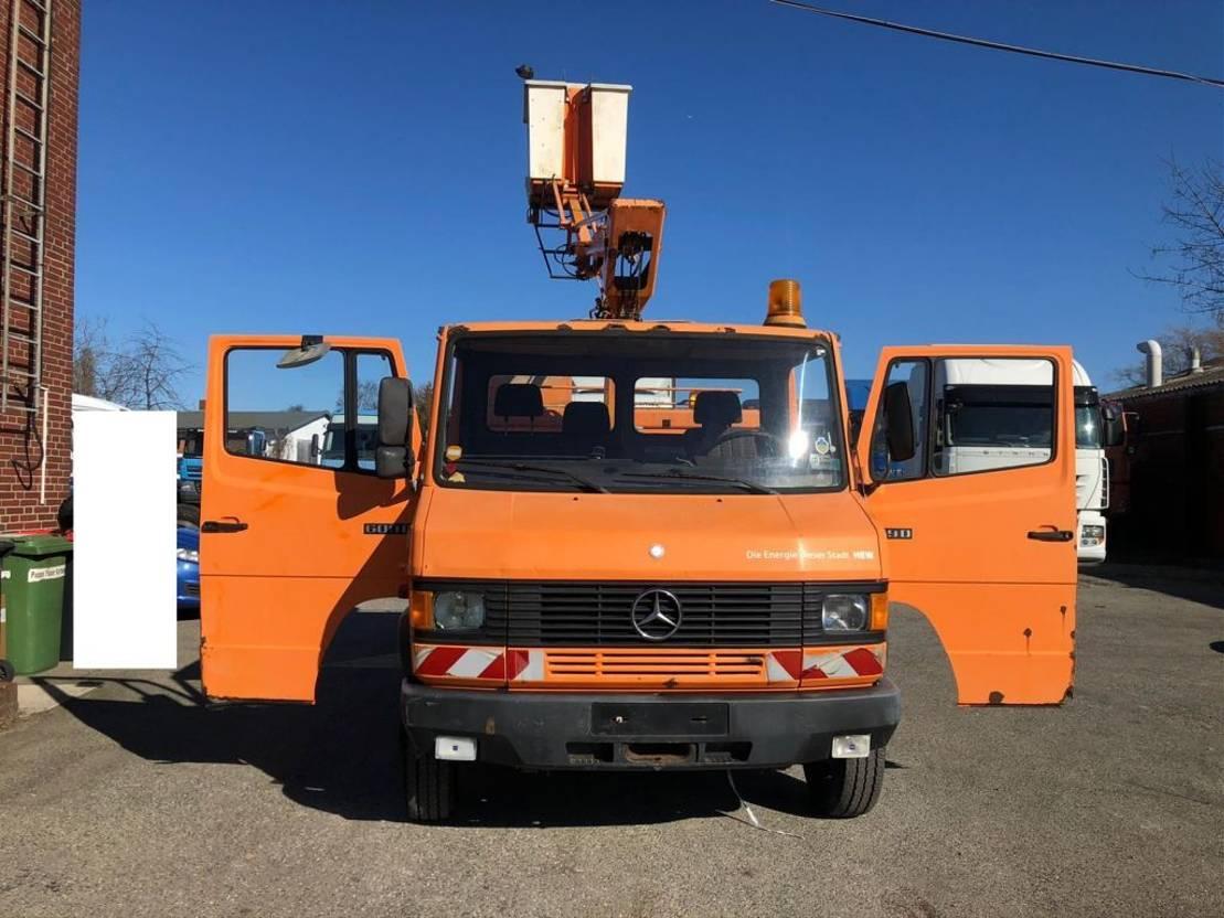 autohoogwerker vrachtwagen Mercedes-Benz 609 1989